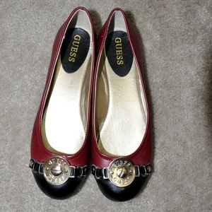 Guess Leather Ballet Flats!